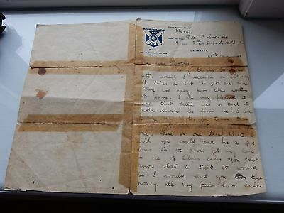 Ww1 Sutherland Highlander Letter  Mentions Gretna Rail Crash Dont Join The Army