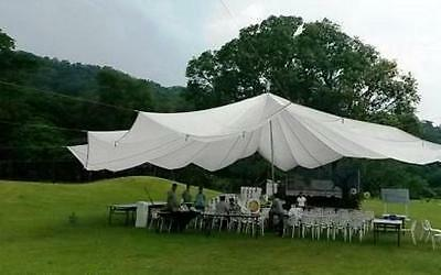 26' White Parachute Canopy Perfect For Weddings, Party, Dance Ceiling Decoration