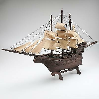 Hand Carved Wooden Model Barque Ship Bark