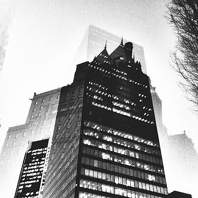 The Fairmont Hotel in black and white