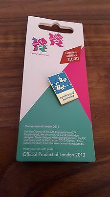 Olympic Paralympic Games Limited Edition Synchronised Swimming Pin Badge BN