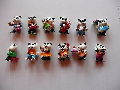 sorprese kinder PANDA PARTY serie completa no cartina