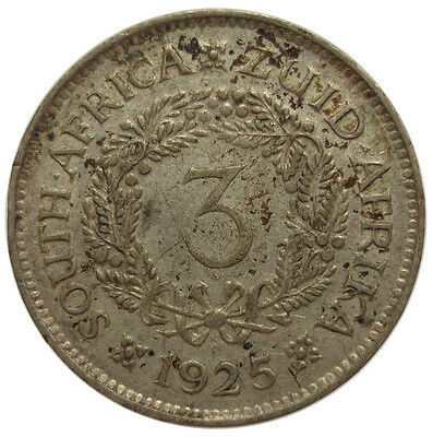 3 Pence 1925 (South Africa) Silver