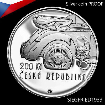 Czech Silver Coin PROOF (2017) - Operation Anthropoid - 200 CZK