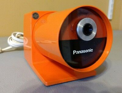 PANASONIC Vtg Mid Century Modern Orange Pana Point KP-22A Pencil Sharpener