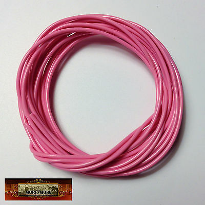 M00797a MOREZMORE Twisteez PINK Fun Craft Wire Plastic Coated 24 GA Soft A60