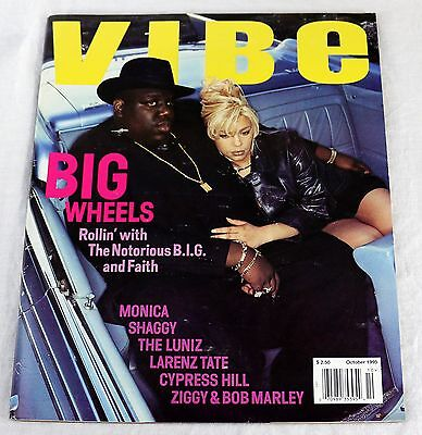 Vibe Magazine October 1995 Notorious BIG Christopher Wallace Faith Evans Topload