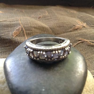 HAUNTED WICCA  Sterling Silver  AMETHYST STONES RING  ~Beautiful SIZE  7