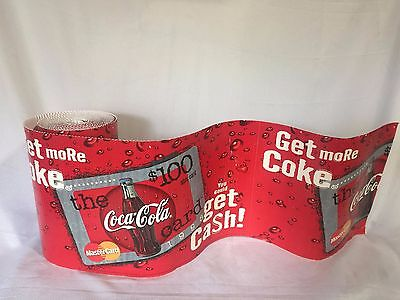 Coca-Cola Cardboard Advertising Banner Coke/Mastercard 24Ft X1 Ft