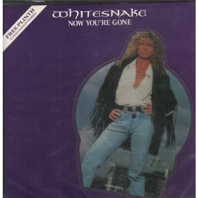 "WHITESNAKE Now You're Gone 7"" VINYL UK Emi Shaped Pic Disc Remix With Backing"