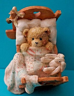 COLLECTIBLE ADORABLE Cherished Teddies Cradled with Love Baby Bear Figurine