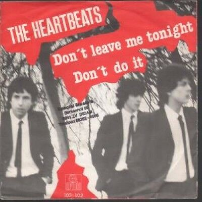 "HEARTBEATS (EARLY 80'S MOD GROUP) Don't Leave Me Tonight 7"" VINYL Dutch Ariola"