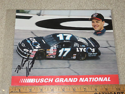Vintage Matt Kenseth Busch Grand National autographed team issued NASCAR 1998