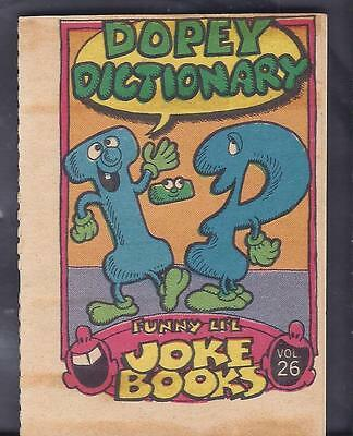 FUNNY LIL JOKE BOOK , Dopey Dictionary , 6 pages , TOPPS issue