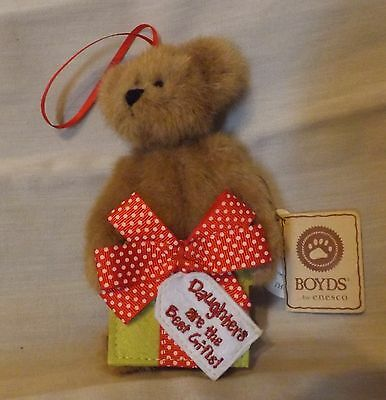 Boyds Bear Plush Ornament Lil' Princess Daughters are the Best Gifts