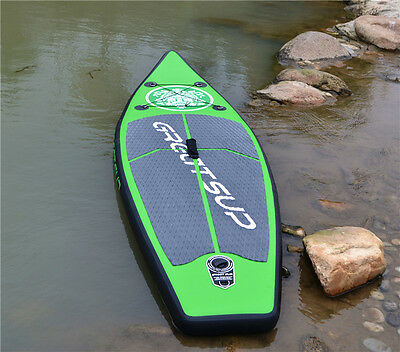 HOT Inflatable Surfboards Stand Up Paddle Board SUP Package with Pump 2.6M Green