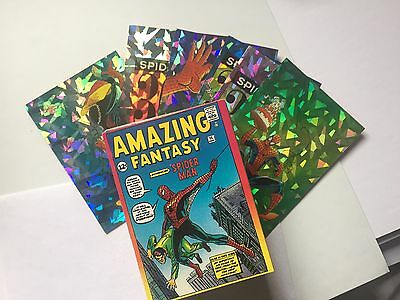 Spider-Man 30th Anniversary 90 Card Set Comic 1992 With P7-P12 Prism Cards