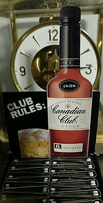 VINTAGE 1980s CANADIAN CLUB WHISKY MATCHES RARE BAR UNOPENED IN ORIGINAL BOX