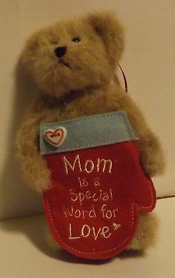 "Boyds Bear Plush Ornament Lil' Momma ""Mom is a Special Word for Love"""