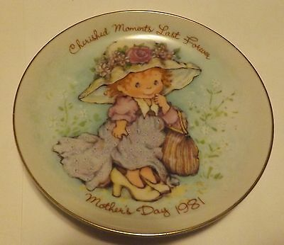Avon Mothers Day Plate 1981 Cherished Moments Last Forever