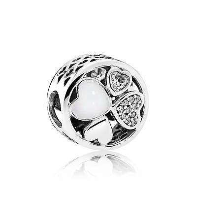 New Genuine 925 Sterling Silver PANDORA Hearts of Love Charm