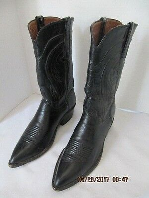 Men's Lucchese 9 B Black Leather Boots