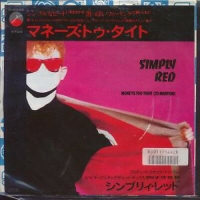 "SIMPLY RED Moneys Too Tight To Mention 7"" VINYL Japanese Elektra (P2024) Pic"