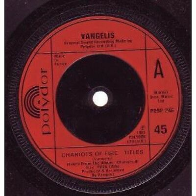 "VANGELIS Chariots Of Fire 7"" VINYL UK Issue Pressed In France Polydor"