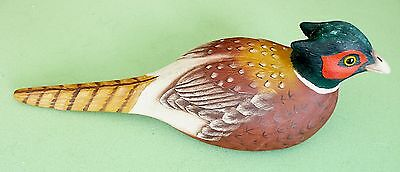 """Pheasant Figurine Painter's Pride Hand-Painted By Sharon Grinager, Signed 12"""""""