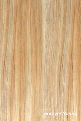 """Full Head Clip In Hair Extension Double Weft Synthetic 22""""Strawberry Blonde Mix"""