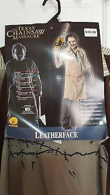 New The Texas Chainsaw Massacre LEATHERFACE Halloween Costume One Size Fit Most