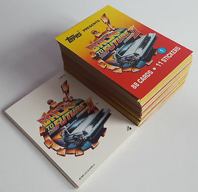 Back to the Future Part II - Complete Card Set (1-88) Sticker (1-11) 1989 Topps