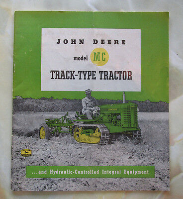 1951 JOHN DEERE Model MC TRACTOR & EQUIPMENT SALES BROCHURE 31 Pages Original