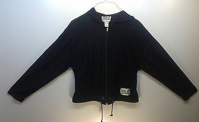 Men's Everlast Brand Black Mesh Zippered Boxing Jacket Size M NWOT SHIPS FRE