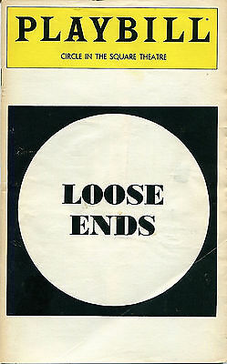 PLAYBILL: Loose Ends (January 1980) Kevin Kline, Christine Lahti