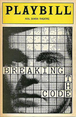 PLAYBILL: Breaking the Code (1988) Derek Jacobi, Rachel Gurney, Jenny Agutter