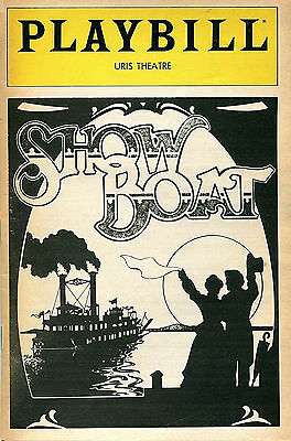 PLAYBILL: Show Boat (1983) Donald O'Connor, Lonette McKee, Ron Raines