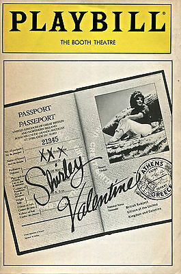 PLAYBILL: Shirley Valentine (May 1989) Pauline Collins