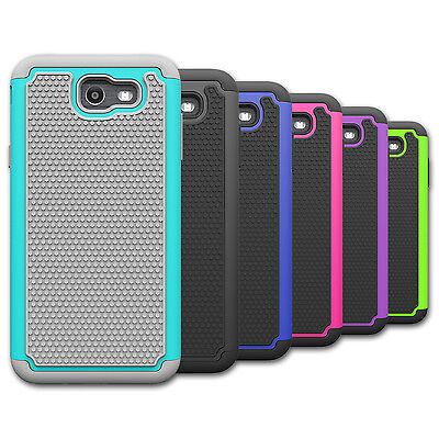 For Samsung Galaxy Halo Case Hard & Silicone Hybrid Shockproof Phone Cover