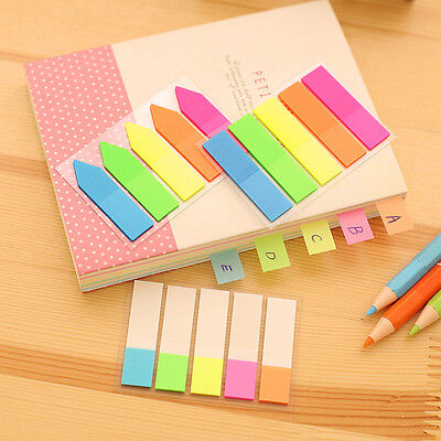 Fluorescent Page Cute Sticker Post It Bookmark Marker Memo Index Tab Sticky Note