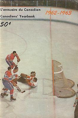 Rare 1962-63 Montreal Canadiens Yearbook Program Henri Richard