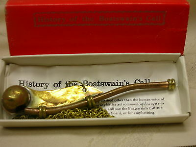 Boatswain's Call History Pamphlet & Chart In Original Box Pipe Whistle Maritime