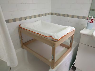 Changing table fitting on bath tub