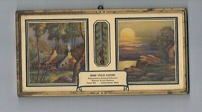 1947 Picture/Thermometer/Calendar Grand Coulee Electric Advertisemnt Washington