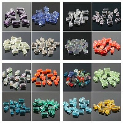 20pcs 4x4x8mm Cuboid Crystal beads 16 Colors Optional
