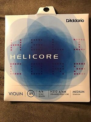 NEW ~ D'Addario Helicore Violin Set Strings H310 4/4M FREE SHIPPING!!!