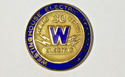 WESTINGHOUSE Electric Corporation -30 Year Service Pin ,LGB 1/10 10K
