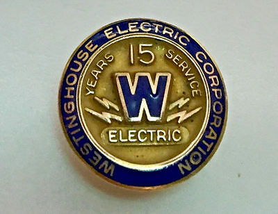 WESTINGHOUSE Electric Corporation -15 Year Service Pin ,LGB 1/10 10K