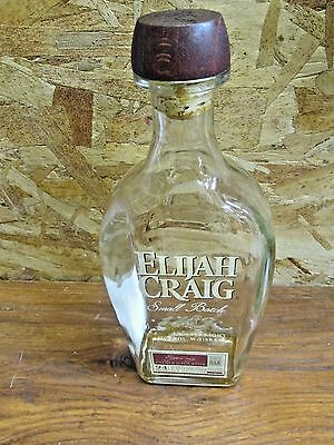 ELIJAH CRAIG SMALL BATCH 1789 KENTUCKY BOURBON EMPTY 750 mL GLASS CORKED BOTTLE
