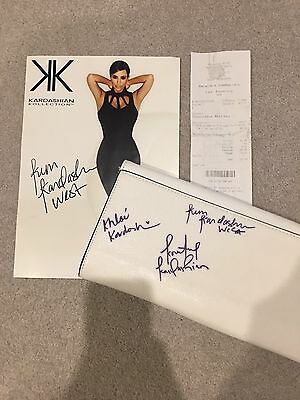 Kim, Khloe & Kourtney Kardashian Signed Bag And Picture In Person Authentic